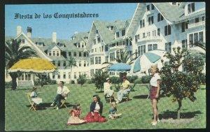 Belleview Biltmore Hotel Belleair Florida FL Guests on Lawn Vintage Postcard
