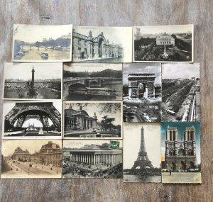 France Paris Postcard Lot of 58 RPPC and Printed  -  01.02