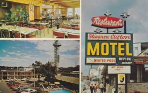 3-views,  Niagara Clifton Motel,  Niagara Falls,  Ontario,  Canada,  40-60s