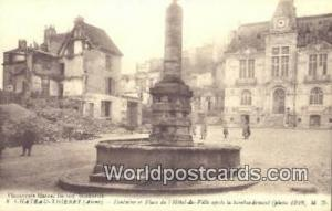 Chateau-Thierry, France, Carte, Postcard Fontaine el Place de IHotel De Vill...
