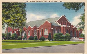 CRYSTAL SPRINGS , Mississippi , 1930-40s : First Baptist Church