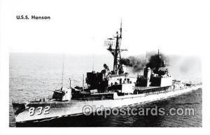 Kodak Paper Real Photo Postcard Post Card USS Hanson