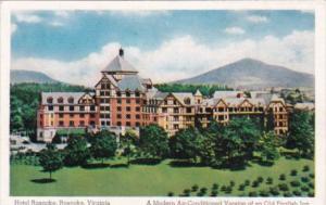 Hotel Roanoke An Old English Inn Roanoke Virginia