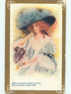 Divided-Back PRETTY WOMAN Risque Interest Postcard AA8683