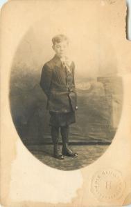 Little Boy~Real Photo Postcard~Rex Hamilton, Photographer