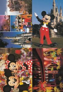 Walt Disney World USA Cinderella Mickey Mouse 4x Postcard s