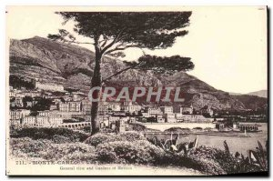 Old Postcard Monte Carlo General view