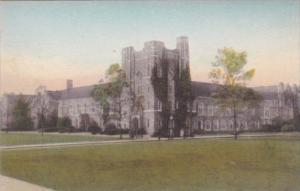 The Union Building Duke University Durham North Carolina Handcolored Albertype