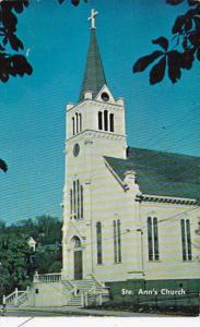 Michigan Mackinac Island Saint Ann's Church 1962