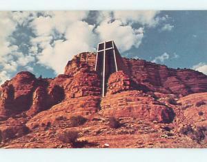 Unused Pre-1980 CHURCH SCENE Sedona Arizona AZ hs6845