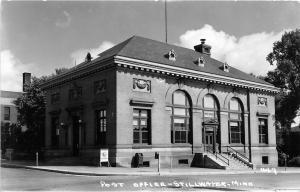 F36/ Stillwater Minnesota RPPC Postcard c1950s Post Office Building