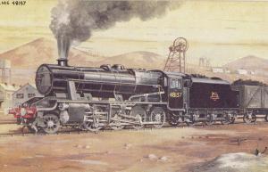 LMS 48157 Class 2-8-0 Heavy Freight Train Postcard