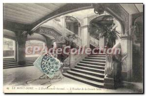 Old Postcard Mont Dore Hydrotherapy staircase from the great room
