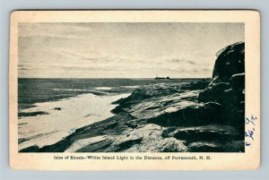 Portsmouth NH-New Hampshire Isles Of Shoals, White Island Light Vintage Postcard