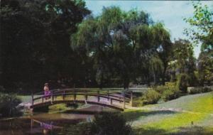 Indiana Fort Wayne Foot Bridge In Jaenicke Gardens