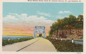 Illinois Mount Moriah Bridge Between Nauvoo and Hamilton Curteich