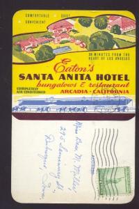 ARCADIA CALIFORNIA EATON'S SANTA ANITA HOTEL VINTAGE OLD