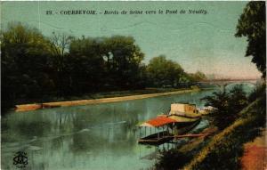CPA COURBEVOIE Bords de Seine vers le Pont de Neuilly (412740)