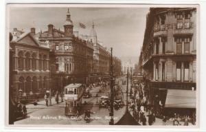Royal Avenue from Castle Junction Belfast Northern Ireland UK RPPC postcard