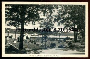 1644 - BERTHIERVILLE Quebec Postcard 1930s Terrace du Manoir by PECO
