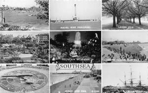 Southsea, Naval War Memorial, Ladies Mile, Sunken Gardens, Floral Clock