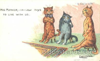 Artist Louis Wain Cat Cats Postcard Post Card  Artist Louis Wain Cat Cats Pos...