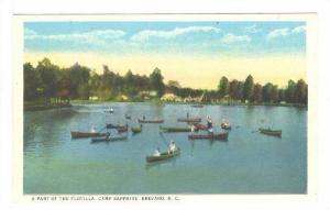 Boats, A Part Of The Flotilla, Camp Sapphire, Brevard, North Carolina, 1900-1...