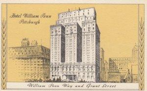 PITTSBURGH, Pennsylvania, 1900-10s; Hotel William Penn, William Penn Way and ...