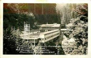 WA, Olympic National Park, Washington, RPPC, Olympic Hot Springs