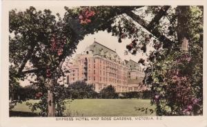 Hand Colored RP: Empress Hotel & Rose Gardens, Victoria, British Columbia, Ca...