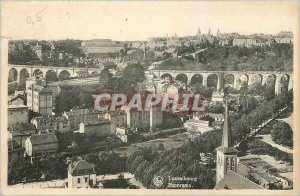 Old Postcard Luxembourg Panorama