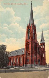 Austin Minnesota~St Augustine Catholic Church~c1910 Postcard