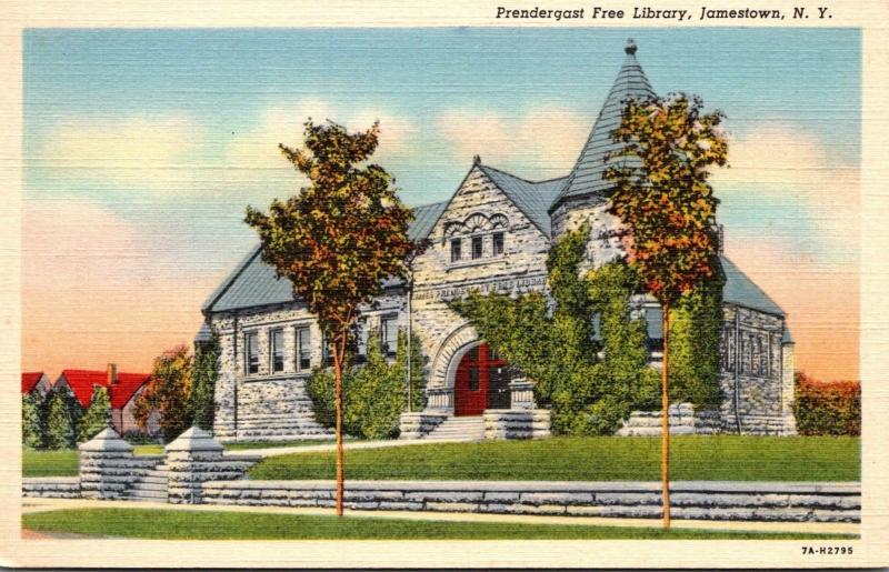 Prendergast Free Library Jamestown New York Curteich