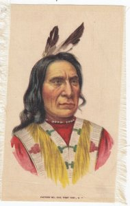 Native American Indian Chief , Tobacco Silk , 1890s : #2