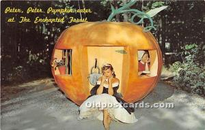 Old Forge, New York, NY, USA Postcard Peter Peter Pumpkin Eater at the Enchan...