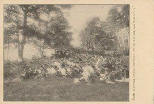 NORTH HERO , Vermont, 1900-10s ; Camp Abnaki ; Daily Morning Chapel Service