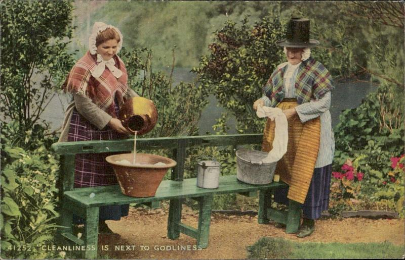 Cleanliness next to Godliness welsh native typical costumes