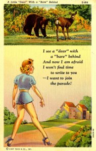 Humor - A little Dear with a Bare Behind