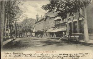 Milford NH Nashua St. c1905 Postcard