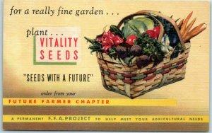 Ann Arbor, Michigan Advertising Postcard VITALITY SEEDS Curteich Linen 9B-H1141