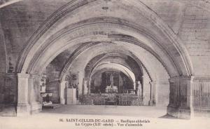 Basilique Abbatiale, La Crypte, Vue d'Ensemble, Saint-Gilles-du-Gard (Gard), ...