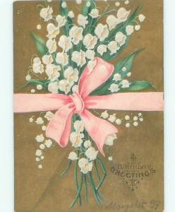 Divided-Back BEAUTIFUL FLOWERS SCENE Great Postcard AA3341