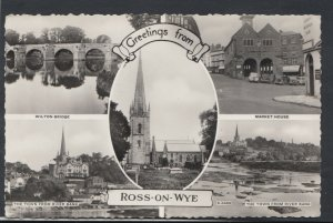 Herefordshire Postcard - Greetings From Ross-On-Wye    RS10527