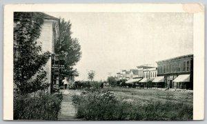 Frankfort South Dakota~Dr DF Sullivan~Ladder on Porch~Dirt Main St 1910 Postcard