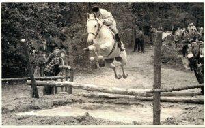 Horse Sports Jumping Picture Send to Dutch Magazine Dordrecht RPPC 03.05
