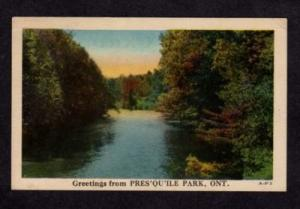 ON Greeting From Presqu'ile Park ONTARIO Postcard Linen