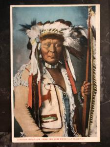 Mint Postcard Native American Indian Chief Two Guns White Calf Canada