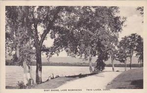 Connecticut Twin Lakes East Shore Drive Lake Washining Albertype