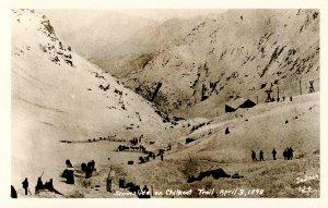 AK - Chilkoot Trail. Snowslide on April 3, 1898.  *RPPC