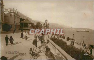 Old Postcard Monte Carlo Casino Terraces and Cap Martin